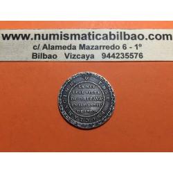 @MUY RARA@ ESPAÑA 1790 MEDALLA DE PROCLAMACION de CARLOS IV VILLA DE ORIZAVA (MEXICO) PLATA módulo 2 REALES