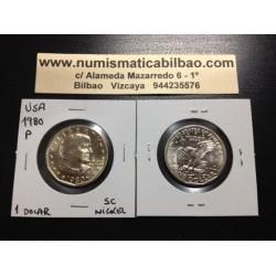 USA 1 DOLLAR 1980 P ANTHONY NICKEL UNC