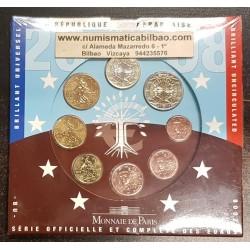 FRANCIA CARTERA OFICIAL EUROS 2008 SC 1+2+5+10+20+50 Centimos + 1 EURO + 2 EUROS 2008 UNC BU EUROSET KMS