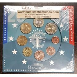 FRANCIA CARTERA OFICIAL EUROS 2009 SC 1+2+5+10+20+50 Centimos + 1 EURO + 2 EUROS 2009 UNC BU EUROSET KMS