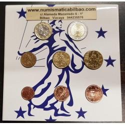 FRANCIA CARTERA OFICIAL EUROS 2014 SC 1+2+5+10+20+50 Centimos + 1 EURO + 2 EUROS 2014 UNC BU EUROSET KMS