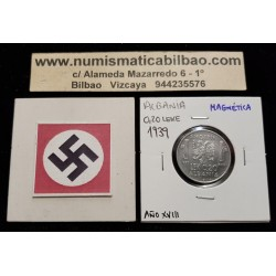 ALBANIA 0,20 LEK 1939 VITTORIO EMANUELLE III KM.29 @MAGNETICA@ MONEDA DE ACERO OCUPACION NAZI III REICH WWII 0,20 LEKE