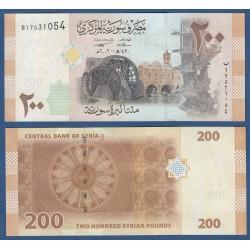 SIRIA 200 LIBRAS 2009 MOLINO DE VIENTO y ROSETA Pick 114 BILLETE SC SYRIA 200 POUNDS UNC BANKNOTE