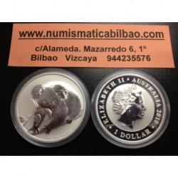 AUSTRALIA 1 DOLAR 2010 KOALA SC MONEDA DE PLATA PURA 999 Silver Dollar 1 Oz Onza Troy CAPSULA
