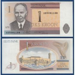 ESTONIA 1 KROONI 1992 CASTILLO MEDIEVAL Pick 69 BILLETE SC EESTI ESTONIE PRE-EURO UNC BANKNOTE