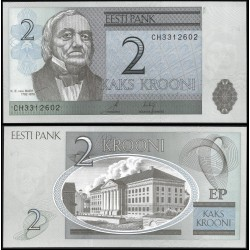 ESTONIA 2 KROONI 2006 K.E. VON BAER y PARLAMENTO Pick 85 BILLETE SC EESTI ESTONIE PRE-EURO UNC BANKNOTE