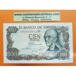 ESPAÑA 100 PESETAS 1970 MANUEL DE FALLA Serie 2H 5637365 Pick 152 @CAPICUA@ BILLETE EBC- Spain
