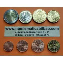PORTUGAL MONEDAS EURO 2009 SC : 1+2+5+10+20+50 Centimos + 1 EURO + 2 EUROS 2009 ANIVERSARIO EMU CONMEMORATIVOS NO LA NORMAL