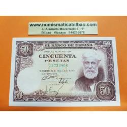 ESPAÑA 50 PESETAS 1951 SANTIAGO RUSIÑOL Serie C 3729808 Pick 141 BILLETE PLANCHA SC SIN CIRCULAR Spain banknote UNC