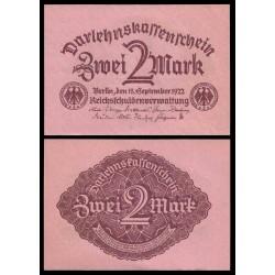 ALEMANIA 2 MARCOS 1922 REPUBLICA DEL WEIMAR Color ROSA Pick 62 BILLETE SC GERMANY ZWEI 2 MARK UNC BANKNOTE