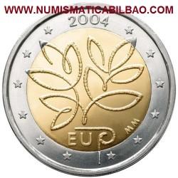 FINLANDIA 2 EUROS 2004 FLOR AMPLIACION DE EUROPA MONEDA BIMETALICA SC CONMEMORATIVA @@RARA@@