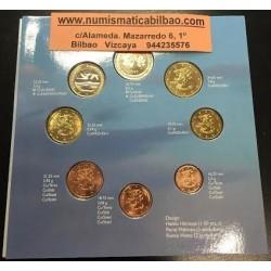 FINLANDIA CARTERA OFICIAL EUROS 1999 BU SET 1+2+5+10+20+50 CENTIMOS 1 EURO + 2 EUROS 1999 SC 8 MONEDAS
