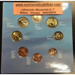 FINLANDIA CARTERA OFICIAL EUROS 2000 BU SET 1+2+5+10+20+50 CENTIMOS 1 EURO + 2 EUROS 2000 SC 8 MONEDAS