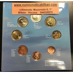 FINLANDIA CARTERA OFICIAL EUROS 2001 BU SET 1+2+5+10+20+50 CENTIMOS 1 EURO + 2 EUROS 2001 SC 8 MONEDAS