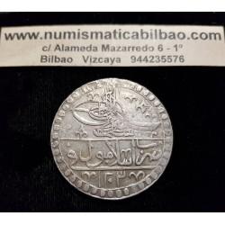 TURQUIA 25 KURUSH 1935 FLOR PLATA Silver Turkey
