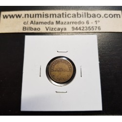 VENEZUELA 1/8 DE BOLIVAR 1913 LEPROSERIA NACIONAL DE LAZARETO MARACAIBO KM.L3 MONEDA DE LATON @RARA@ Leper Colony coin