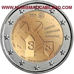 PORTUGAL 2 EUROS 2017 POLICIA DE SEGURIDAD PUBLICA 150 ANIVERSARIO SC MONEDA CONMEMORATIVA