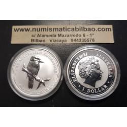 AUSTRALIA 1 DOLAR 2005 KOOKABURRA MONEDA DE PLATA PURA SC $1 Dollar Coin ONZA OZ OUNCE