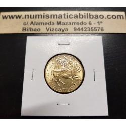 VATICANO 200 LIRAS 1985 JUAN PABLO II BUEY SAGRADO KM.189 MONEDA DE LATON SC Vatican 200 Lire