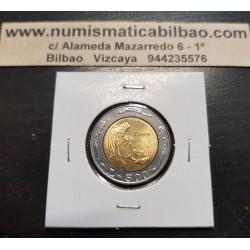 SAN MARINO 500 LIRAS 1989 ESCULTOR 600 AÑOS DE HISTORIA KM.239 MONEDA BIMETALICA SC 500 Lire