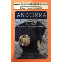 ANDORRA 2 EUROS 2017 NUEVA REFORMA DE 1866 SC @85.000 uds.@ (Fecha real Andorra 2 Euros 2016)