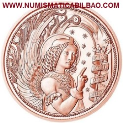 @NOVEDAD@ AUSTRIA 10 EUROS 2017 ARCANGEL SAN GABRIEL MONEDA DE COBRE SC Österreich 10 Euro copper coin