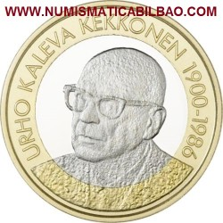 @NOVEDAD@ FINLANDIA 5 EUROS 2017 PRESIDENTE Nº 7 URHO KALEVA KEKKONEN 1900-1986 BIMETALICA SC Finnland