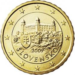 ESLOVAQUIA 10 CENTIMOS 2009 CASTILLO ANTIGUO MONEDA DE LATON SC Solvakia 10 Euro Cents