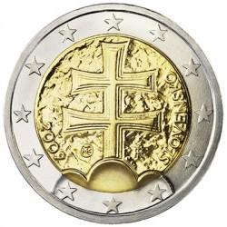 ESLOVAQUIA 2 EUROS 2009 CRUZ ANTIGUA MONEDA BIMETALICA SC Slovakia 2 Euro 2009