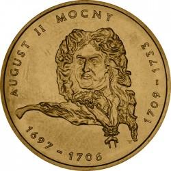 POLONIA 2 ZLOTY 2002 REY AUGUST II EL FUERTE 1709 1733 KM.439 MONEDA DE LATON SC Poland 2 Zlotych ZL