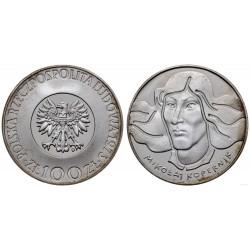 POLONIA 100 ZLOTY 1973 MW NICOLAS COPERNICO KM.68 MONEDA DE PLATA PROOF Poland 100 Zlotych ZL silver coin