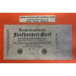 ALEMANIA 500 MARCOS 1922 BERLIN República del Weimar AGUILA Pick 74B BILLETE MBC Germany 500 Marks REICHSBANKNOTE