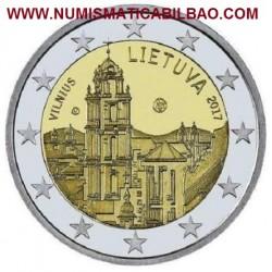 LITUANIA 2 EUROS 2017 CIUDAD DE VILNIUS SC MONEDA CONMEMORATIVA Lietuva Lithuania