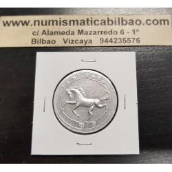 BARACALDO 1 KILO DE PAN 1936 FICHA DE COOPERATIVA HARINO PANADERA CABALLO MONEDA DE ALUMINIO SC @DEFECTO@ VIZCAYA