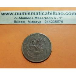 CHINA 20 CASH 1919 BANDERAS y CEREALES República de China MONEDA DE COBRE TWENTY CASH