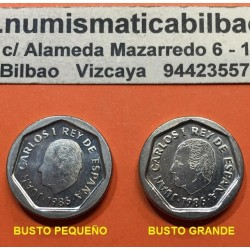 @ERROR FNMT@ ESPAÑA 200 PESETAS 1986 BUSTO NORMAL + 200 PESETAS 1986 BUSTO GRANDE 2 MONEDAS DE NICKEL SC