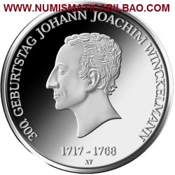@NOVEDAD@ ALEMANIA 20 EUROS 2017 Letra F JOHANN JOACHIM WINCKELMANN SC MONEDA DE PLATA Germany