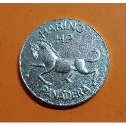 @REVERSO GIRADO BARACALDO 1 REGALO 1940/1950 FICHA DE COOPERATIVA HARINO PANADERA CABALLO MONEDA DE ALUMINIO SC VIZCAYA