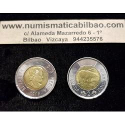 CANADA 2 DOLARES 2015 OSO POLAR 4º BUSTO DE ISABEL II KM.1257 MONEDA BIMETALICA SC- $2 Dollars coin