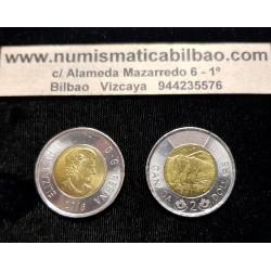 CANADA 2 DOLARES 2016 OSO POLAR 4º BUSTO DE ISABEL II KM.1257 MONEDA BIMETALICA SC- $2 Dollars coin