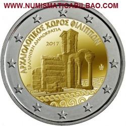 GRECIA 2 EUROS 2017 RUINA DEL SITIO ARQUEOLOGICO DE FILIPOS SC MONEDA CONMEMORATIVA Greece