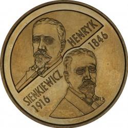 POLONIA 2 ZLOTY 1996 HENRYK SIENKIEWICZ 1846 1916 KM.315 MONEDA DE LATON SC @RARA@ Poland 2 Zlotych ZL