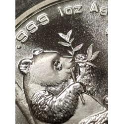 CHINA 10 YUAN 1995 OSO PANDA y PAGODA @RAMA LARGA@ MONEDA DE PLATA SC 1 ONZA OZ OUNCE TROY Silver coin SEALED MINT BAG