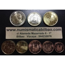 ESPAÑA MONEDAS EURO 2000 SIN CIRCULAR 1+2+5+10+20+50 Centimos 1 EURO + 2 EUROS
