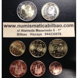 ESPAÑA MONEDAS EURO 2014 SIN CIRCULAR 1+2+5+10+20+50 Centimos 1 EURO + 2 EUROS ULTIMOS EUROS REY JUAN CARLOS I