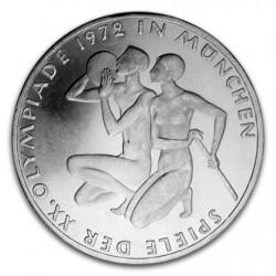 ALEMANIA 10 MARCOS 1972 D OLIMPIADA DE MUNICH 72 ATLETAS KM.132 MONEDA DE PLATA SC GERMANY MARKS SILVER