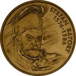 POLONIA 2 ZLOTY 1997 REY STEFAN BATORY 1576 1586 KM.325 MONEDA DE NICKEL SC Poland 2 Zlotych Zl Zlote