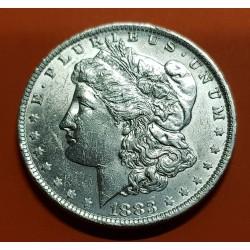 ESTADOS UNIDOS 1 DOLAR 1883 O MORGAN KM.110 MONEDA DE PLATA @LUJO@ USA Silver $1 Dollar Coin