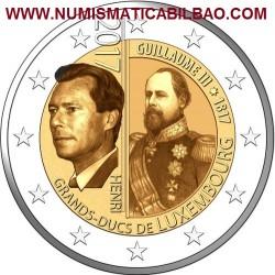@RARA@ LUXEMBURGO 2 EUROS 2017 GRAN DUQUE GUILLERMO III 200 ANIVERSARIO SC MONEDA CONMEMORATIVA Luxembourg