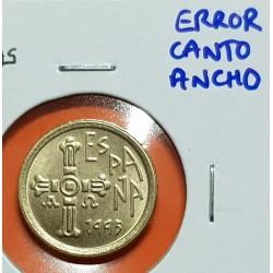 @ERROR CANTO ANCHO@ ESPAÑA 5 PESETAS 1995 ASTURIAS REY JUAN CARLOS I MONEDA SIN CIRCULAR LATON SC VARIANTE CATALOGADA